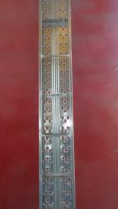 μεταλλικό μαδέρι 15mm με ενίσχυση 169x300